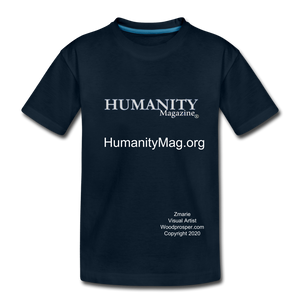 Unisex Humanity Project Kids' Premium T-Shirt - deep navy