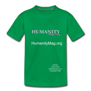 Unisex Humanity Project Kids' Premium T-Shirt - kelly green