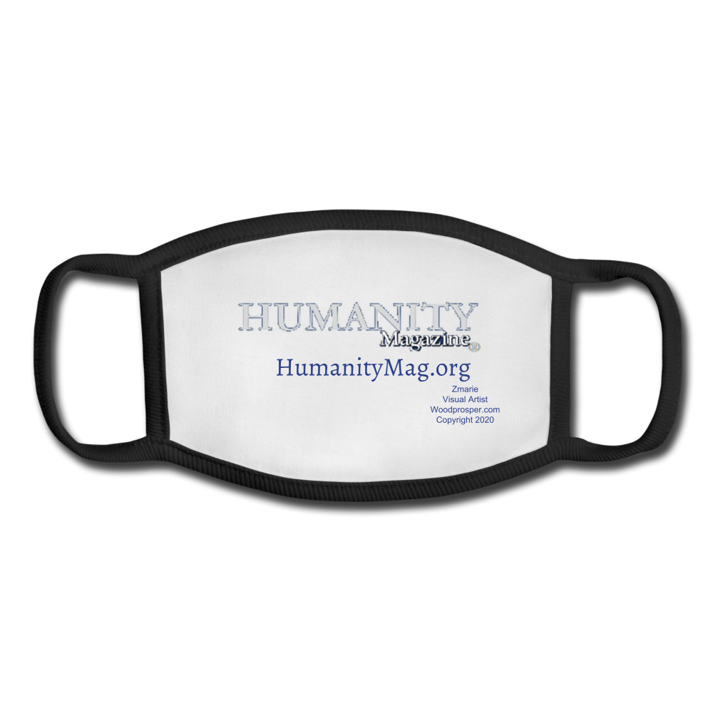 Humanity Project Youth Face Mask - white/black