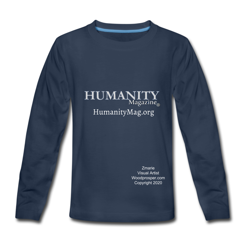 Humanity Project Kids' Premium Long Sleeve T-Shirt - navy