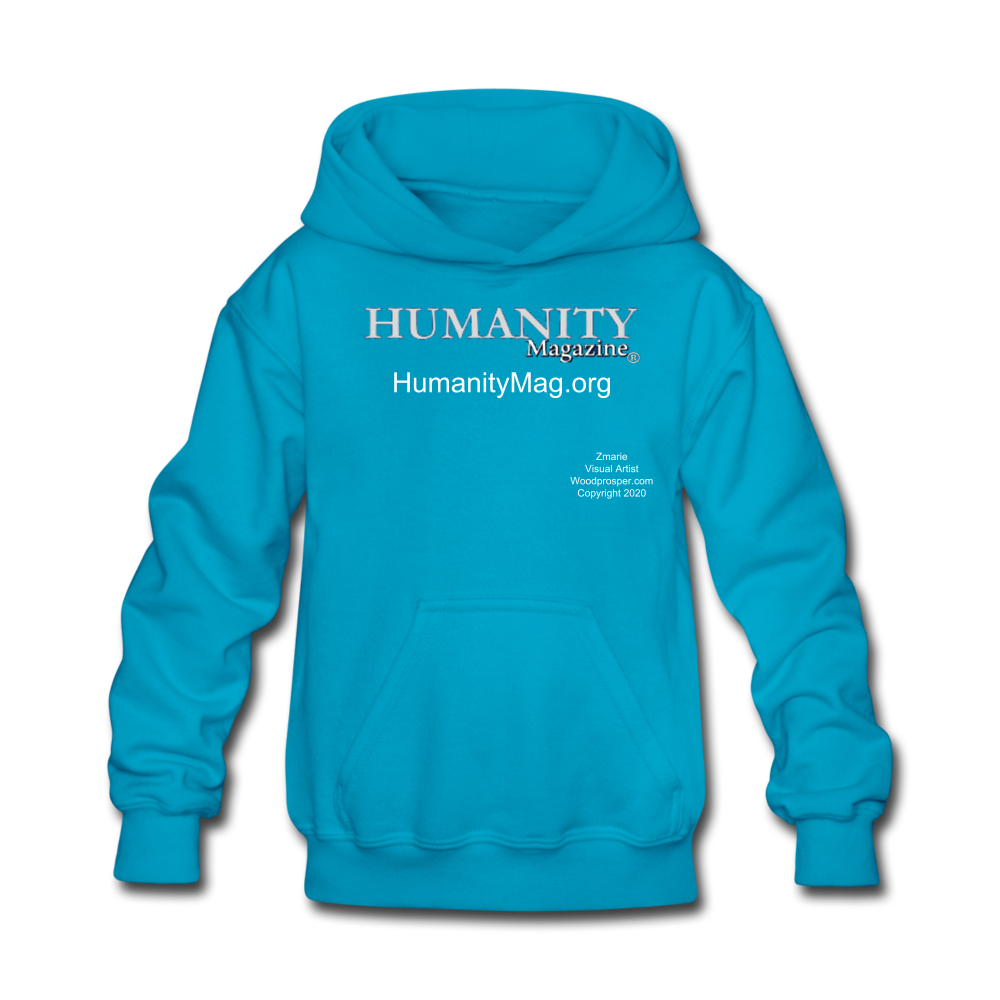 Humanity Project Kids' Hoodie - turquoise