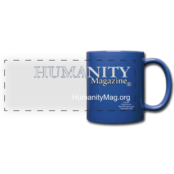 Humanity Project Full Color Panoramic Mug - royal blue
