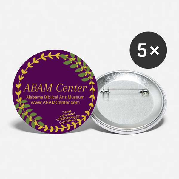 ABAM Center Buttons large 2.2'' (5-pack) - white