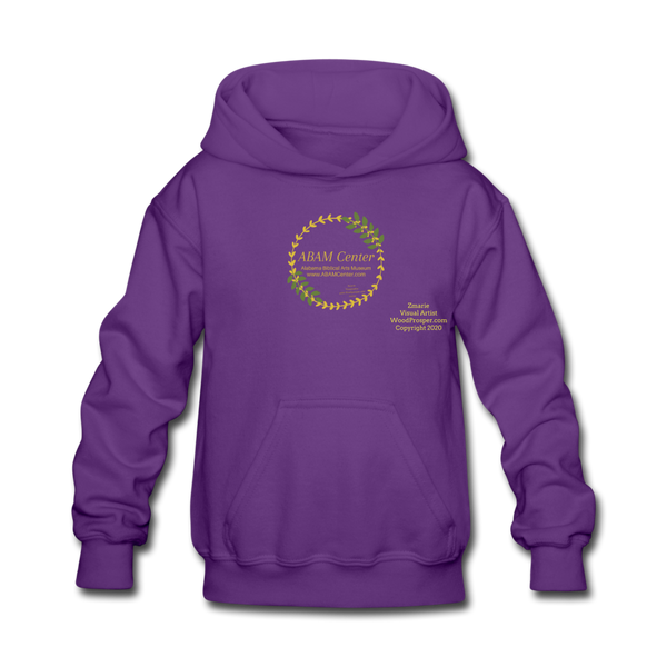 ABAM Center Kids' Hoodie - purple