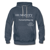 Humanity Magazine Men's Premium Hoodie - heather denim