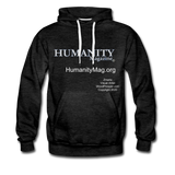 Humanity Magazine Men's Premium Hoodie - charcoal gray