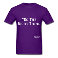 Do The Right Thing Crewneck Men's T-Shirt - purple