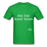 Do The Right Thing Crewneck Men's T-Shirt - bright green