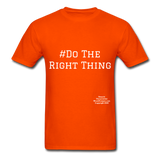 Do The Right Thing Crewneck Men's T-Shirt - orange