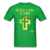 A King is Born Men's T-Shirt - bright green