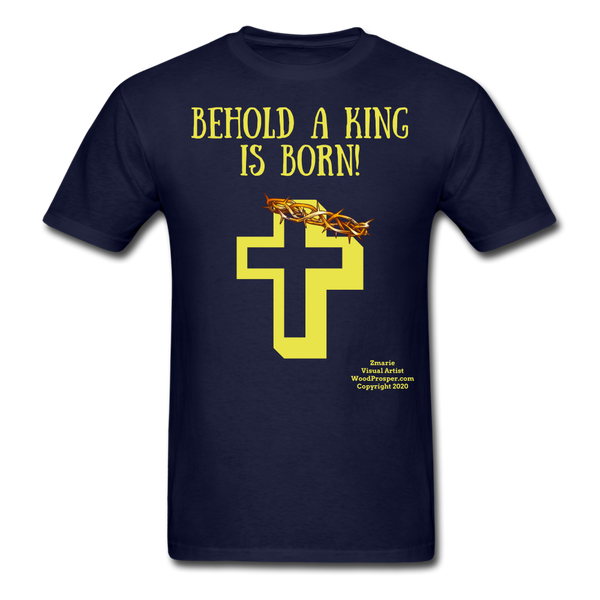 A King is Born Men's T-Shirt - navy