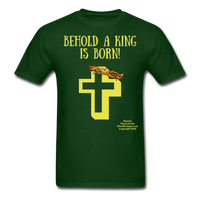 A King is Born Men's T-Shirt - forest green