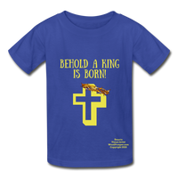 A King Is Born Hanes Youth Tagless T-Shirt - royal blue