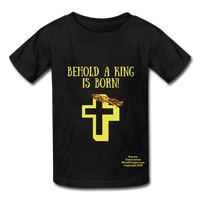 A King Is Born Hanes Youth Tagless T-Shirt - black