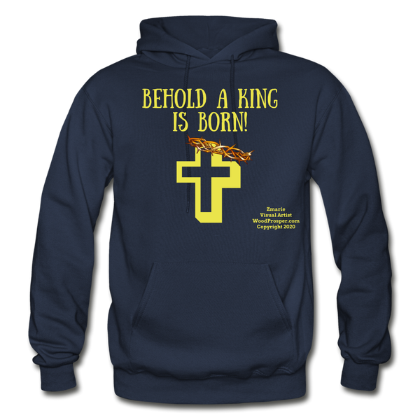 A King Is Born Gildan Heavy Blend Adult Hoodie - navy