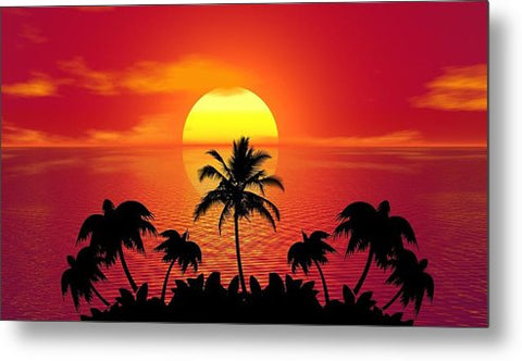 Sunset - Metal Print