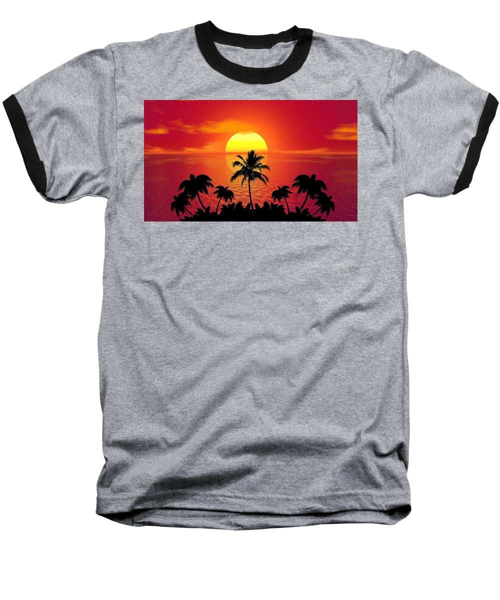 Sunset - Baseball T-Shirt