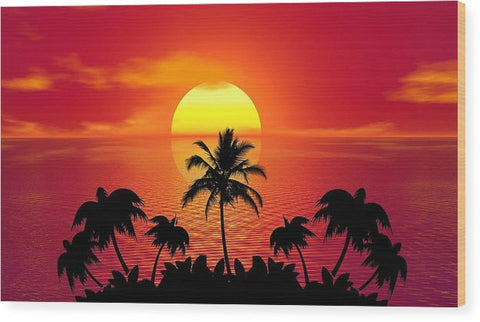Sunset - Wood Print