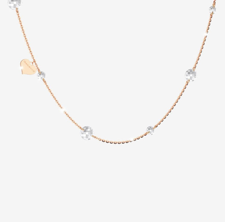 REB Luccoile Necklace - Linked White Stone