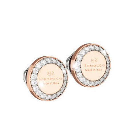 REB Boulevard Stone Earrings- Rose Gold + 2 Size Options