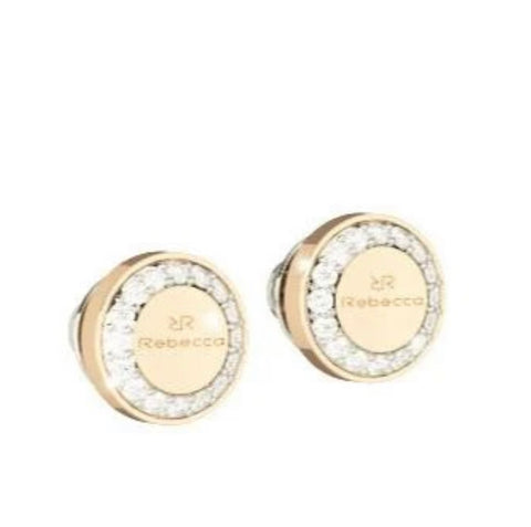 REB Boulevard Stone Earrings: Yellow Gold + 2 Size Options