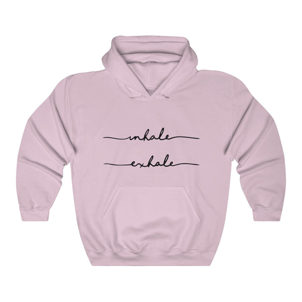 Inhale Exhale Hooded Sweatshirt by EMEJOTA