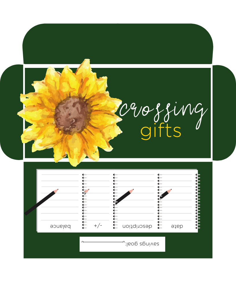 GIFTS HORIZONTAL CASH ENVELOPE IN GREEN (PRINTABLE)