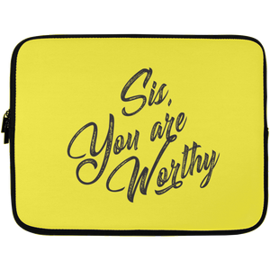 Sis, You Are Worthy Laptop Sleeve - 13 inch