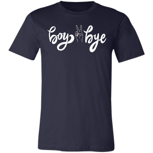 boy bye with hand in middle Unisex Jersey Short-Sleeve T-Shirt