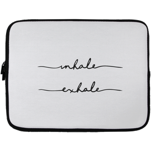 Inhale, Exhale Laptop Sleeve - 13 inch