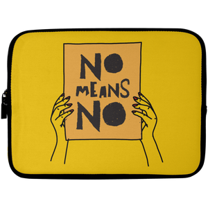 No Means No with Hands Laptop Sleeve - 10 inch