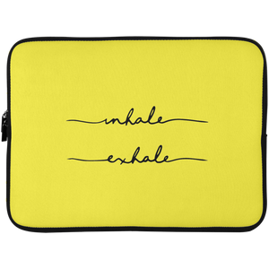 Inhale, Exhale Laptop Sleeve - 15 Inch