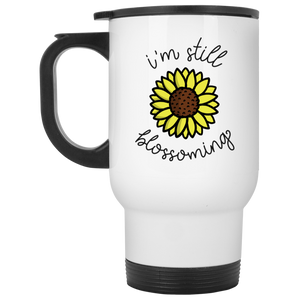 I'm Still Blossoming White Travel Mug