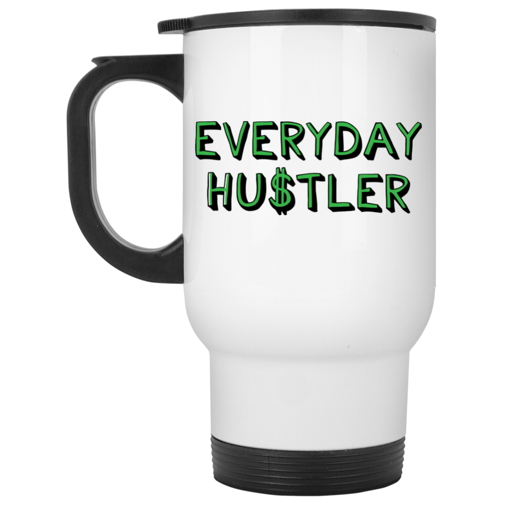 Everyday Hustler White Travel Mug