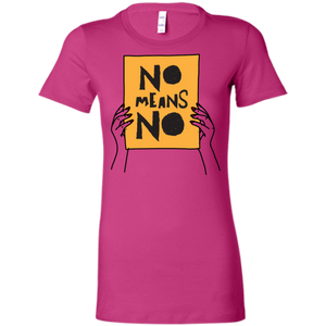 No Means No with Hands Slim Fit Women's T-Shirt