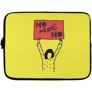 No Means No Laptop Sleeve - 13 inch