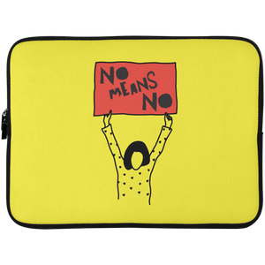 No Means No Laptop Sleeve - 15 Inch