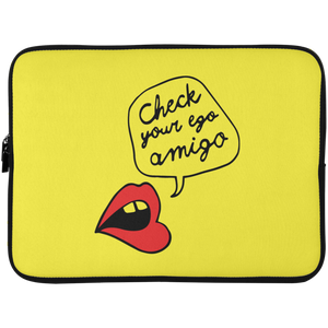 Check Your Ego Amigo Laptop Sleeve - 15 Inch