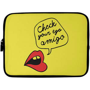 Check Your Ego Amigo Laptop Sleeve - 10 inch