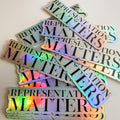 Representation Matters Holographic Stickers