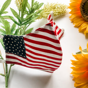 USA Flag Reusable Cotton Face Mask