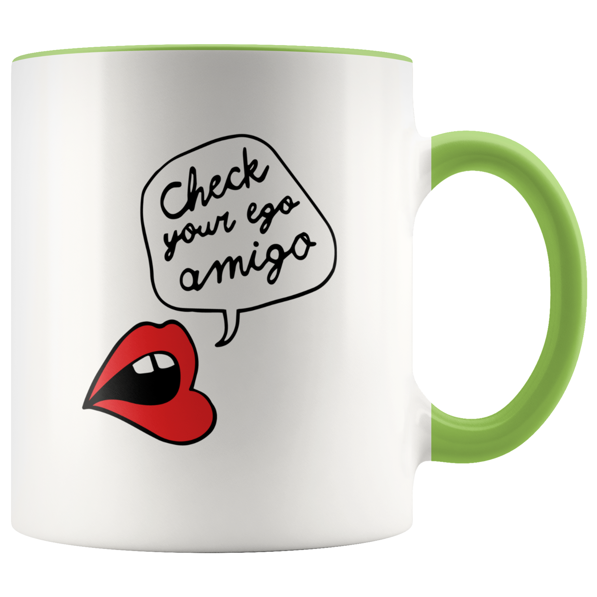 Check Your Ego Amigo 11oz White Accent Mug