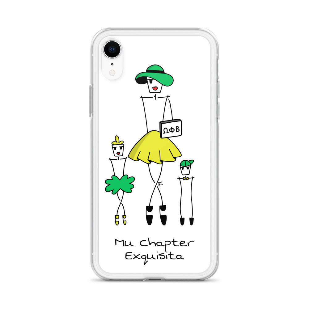 Beta Mom plus Girl + Boy Case for iPhone - Clear