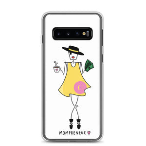 Mompreneur in Yellow Dress for Samsung - Clear Case