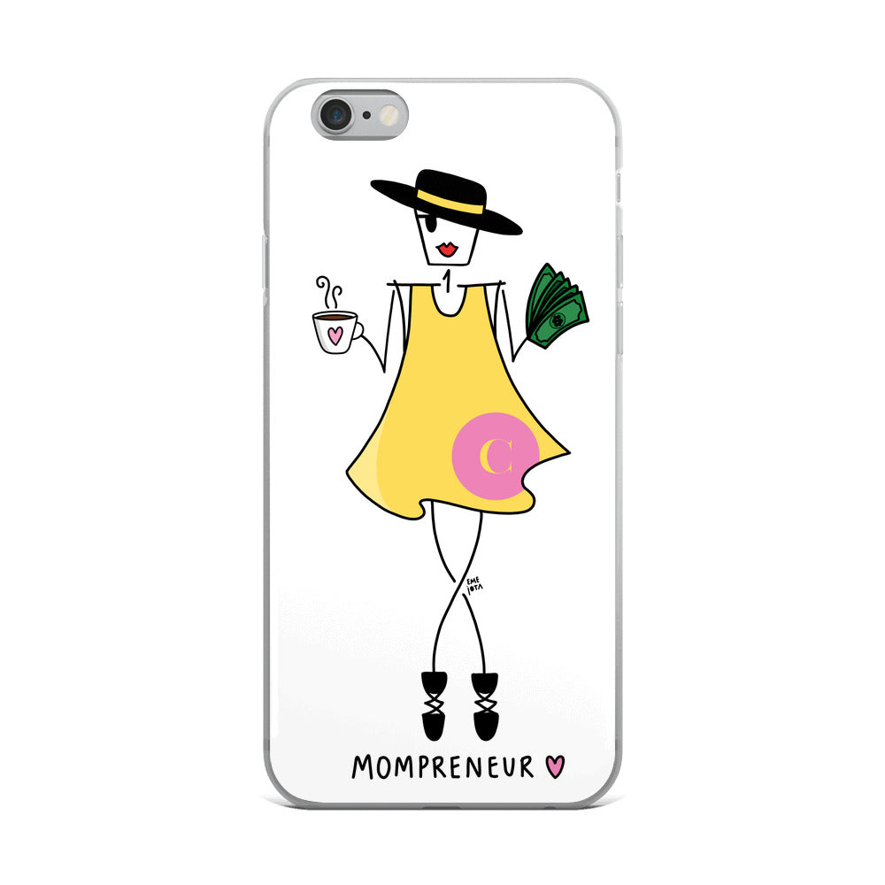 Mompreneur in Yellow Dress for iPhone - Clear Case
