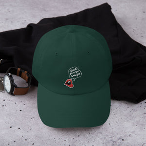 Check Your Ego Embroidered Dad Hat by EMEJOTA