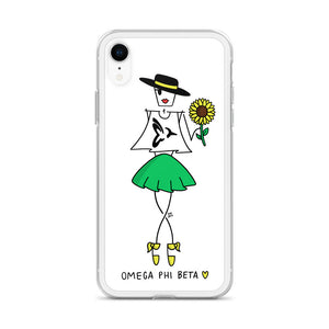 Omega Phi Beta Eme for iPhone - Clear Case