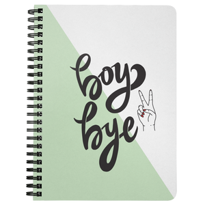 Boy Bye Spiralbound Notebook
