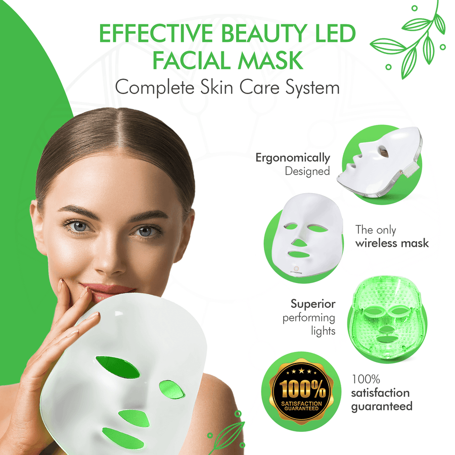 DermaShine Pro Wireless 7 Color LED Face Mask