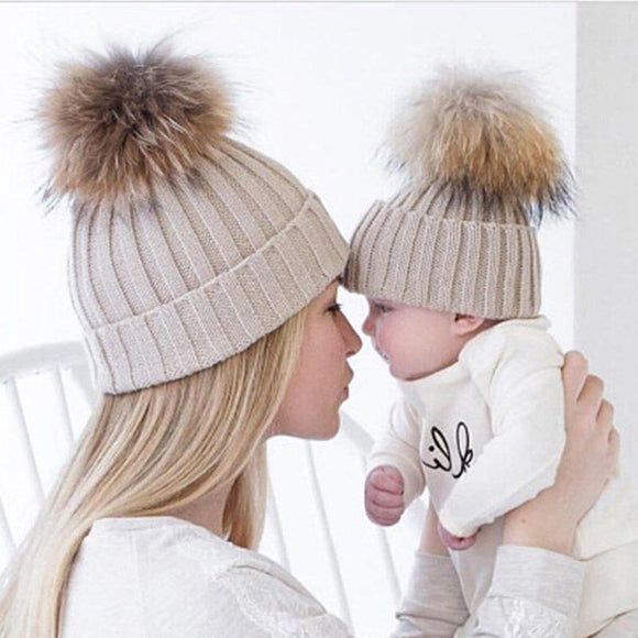 Duo de bonnets Maman - Enfant